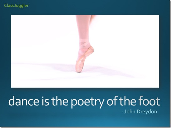 dance-poetry of foot
