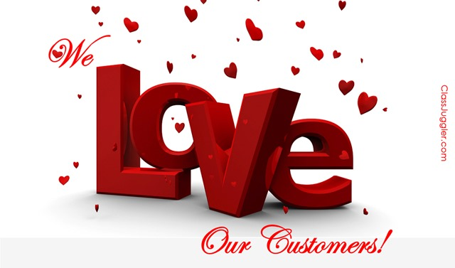 valentines day - we love our customers