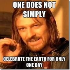 earthday one does not simply